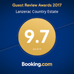 Booking.com 9.7 guest rating