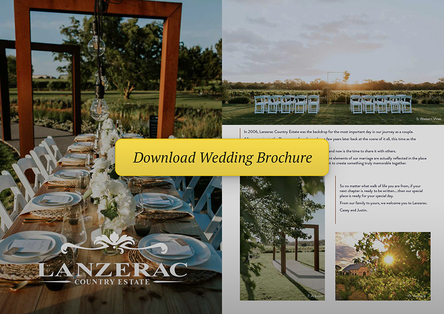 Download Wedding Brochure - Lanzerac Country Estate, South Australia