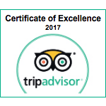 Trip Advisor Certification of Excellence 2017